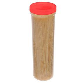Porta Macarrão Plástico Sanremo Transparente Tampa Vermelha