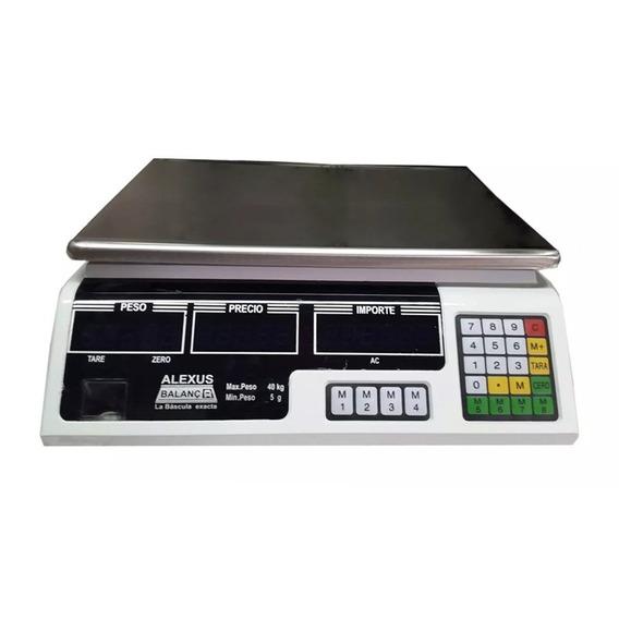 Bascula Digital Comercial 40kg Bateria Recargable Alexus /e