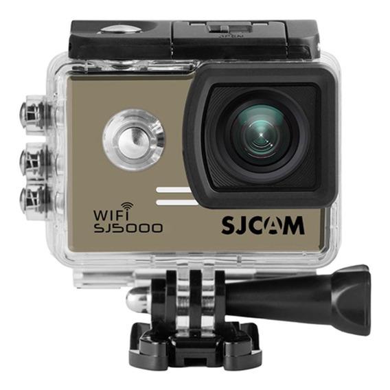 Câmera Ação Full Hd Wifi 4k Sjcam Sj5000 Dourado Original