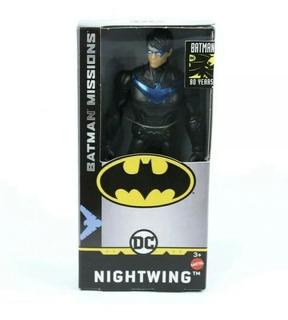 Muñeco Batman Missions Nightwing 15cm Mattel Original!!