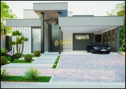 Imagem 1 de 2 de Casa Térrea Em Condomínio Fechado Em Paulínia
