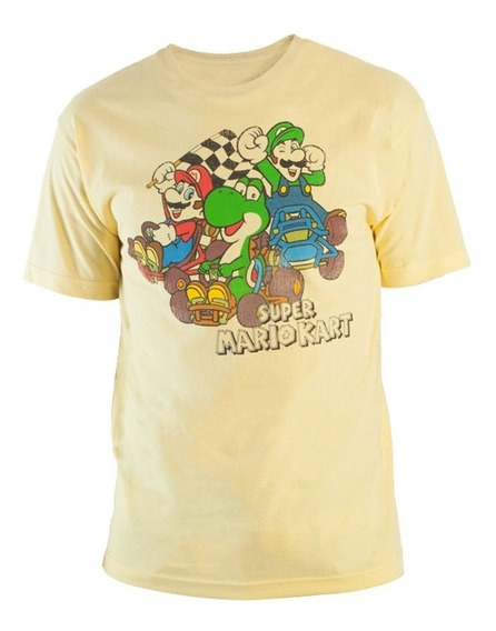 Playera Manga Corta Super Mario Kart Bioworld Thinkgeek