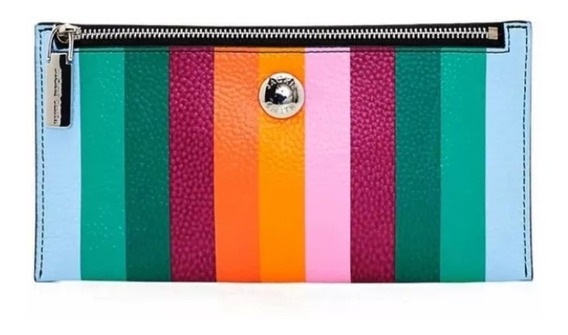 Billetera Sobre Jackie Smith Stripes Multicolor Cuero