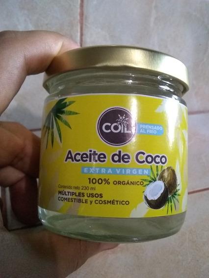Aceite De Coco Comestible. Extra Virgen. Prensado Frío 230ml