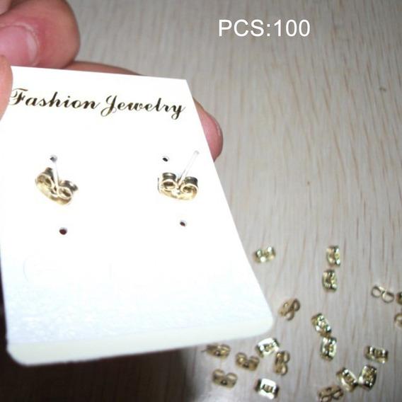 Pendiente de Metal de Forma de Mariposa para Mujer de espaldas tapones Accesorio 120 un.