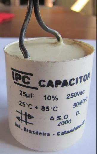 Capacitor Partida 25uf 250vac P/ Diversos Motores Ipc