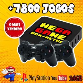 Mega Game Box Console Super Retro + 7.000 Jogos 2 Controles