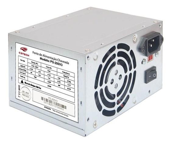 Fonte Atx C3tech Ps-200v3 200w Sem Cabo