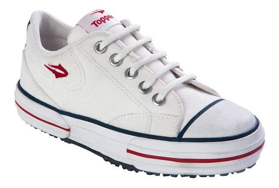 Zapatillas Topper Nova Low Kids Lona Reforzada Asfl70