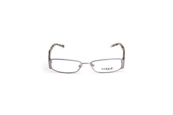 Oculos De Grau Feminino Vogue Metal Quadrado Roxo