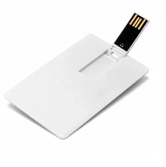 1 Pen Drive Cartão Liso (pen Card) 4gb, Personalizável