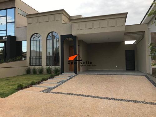 Casa Com 3 Dormitórios À Venda, 147 M² Por R$ 710.000,00 - Condomínio Vila Romana - Ribeirão Preto/sp - Ca1454