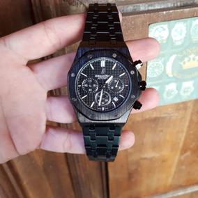 Relógio Audemars Piguet Dourado Preto Prata Todo Funcional
