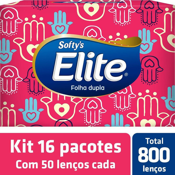 Kit Lenço De Papel Elite Softy