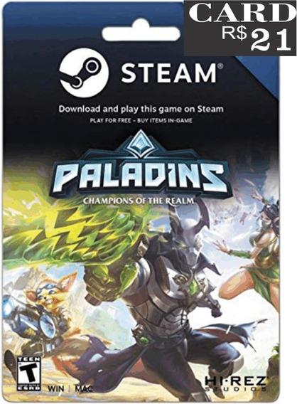 Steam Cartão Pré-pago R$21 Reais Crédito Card - Imediato