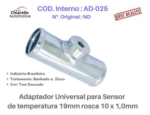 Adaptador Sensor De Temperatura 19mm Rosca 10 X 1,0mm