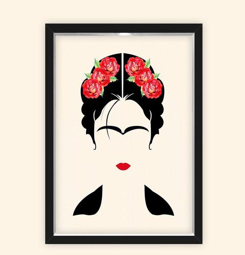 Quadro Caixa 23x33cm Frida Flor