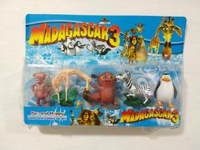 Boneco Madagascar Alex Marty Glória Melman Capitão Pinguim