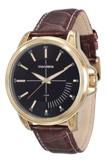 Relógio Mondaine Masculino Analógico Couro Marrom Original