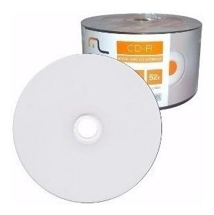 Pacote Cd-r Imprimível Branco 700 Mb Com 50 Unid. Multilaser