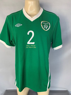 Camisa Irlanda # 2 De Jogo Utilizada Amistoso 2010