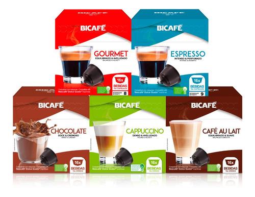 80 Cápsulas Para Dolce Gusto Café Cappucino Chocolate Bicafé
