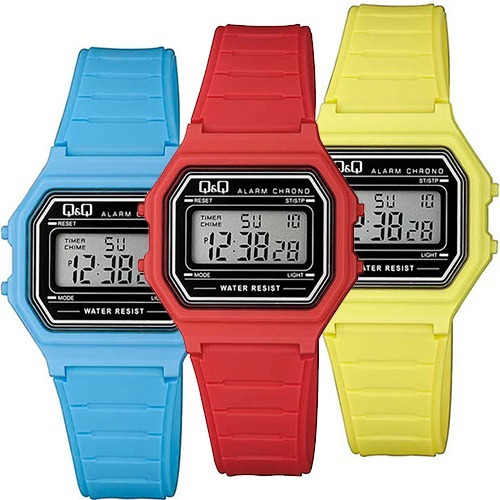 Reloj Q&q Citizen Unisex Retro Varios Colores Sumergible