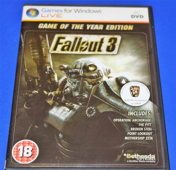 Fallout 3 Goty Pc Dvd Mídia Física (sem Key)