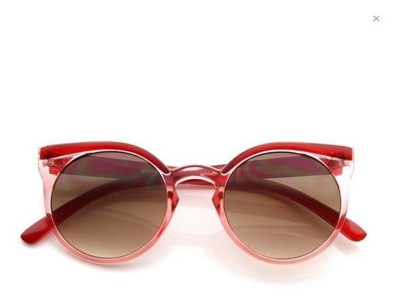 Óculos De Sol De Gatinho - Redondo - Hipster