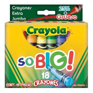 18 Crayones Extra Jumbo So Big