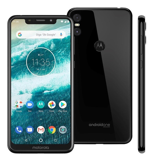 Celular Motorola Moto One 64gb 5.9 4gb 13mp+2mp - Preto