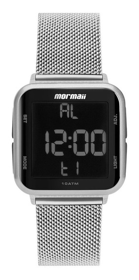 Relógio Mormaii Feminino Digital Mo6600ak/7k Prata Negativo