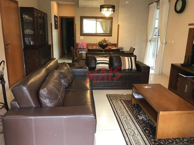 Apartamento Com 3 Dormitórios À Venda, 140 M² Por R$ 1.100.000 - Boqueirão - Santos/sp - Ap5077