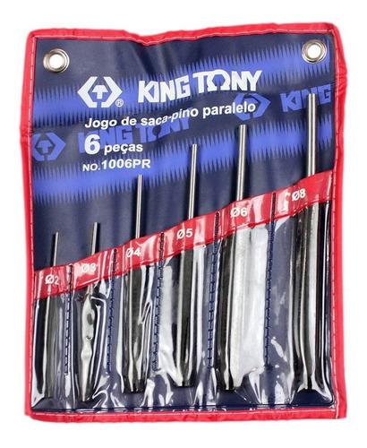 Jogo De Saca Pino Paralelo Com 6 Peças 1006pr - King Tony
