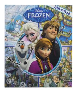 Libro Frozen Look And Find En Inglés ! Busca Y Encuentra