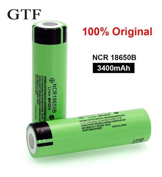 Kit 2 Bateria 18650 Gtf Ncr18650b 3400mah Lanterna Alta Pote