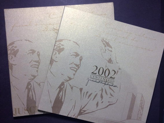 Brasil Moeda De Ouro De 2002 Comemorativa 100 Anos Jk Folder