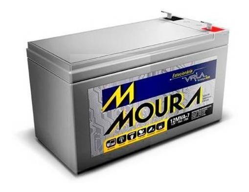 Bateria Sistema De Segurança E Alarme Moura 12 Mva-7 12v 7a
