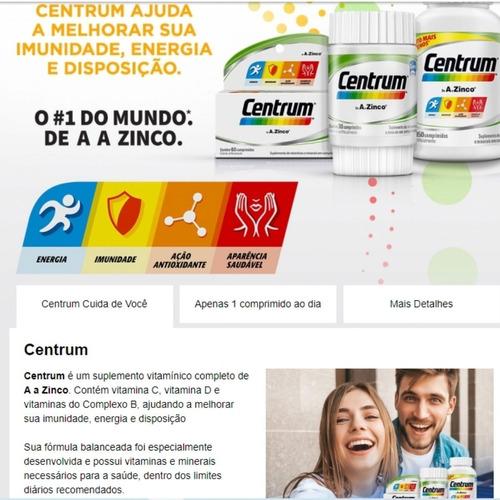 Centrum 30 Comprimidos - A-z-para Homens Acima Dos 50+frete | Mercado Livre