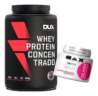 Kit Whey Concentrado Dux Nutrition + Colágeno Max Titanium