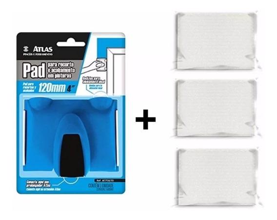 Pad Atlas+ 2 Refils Recorte/pintura, Acabamento P/ Paredes