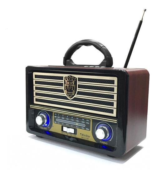 Caixa De Som Radiola Recarregável Bivolt Am/fm, Usb, Aux