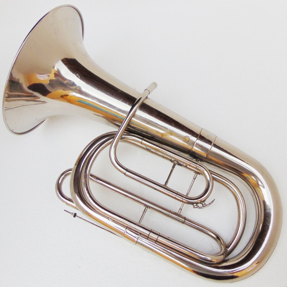 Instrumento Musical Sopro Bombardino De Marcha Sem Pistos