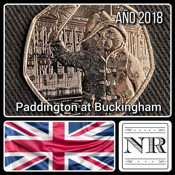 Inglaterra - 50 Pence - Año 2018 - Paddington At Buckingham