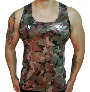 Camisilla Lycra Fria Slim Fit Texturizado Militar