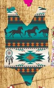 Body Feminino Estampa Cavalo - Country