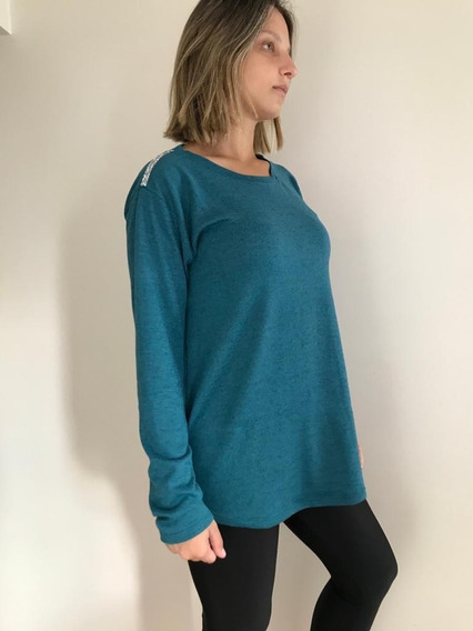 Sweater Lanilla Con Aplique