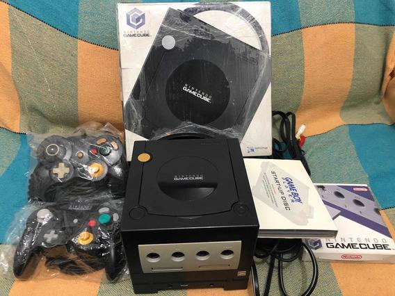 Gamecube Na Caixa + Gameboy Player Americano + 2 Controles
