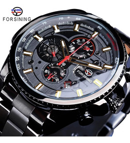 Relógio Masculino Automático Aço Inoxidável Forsining