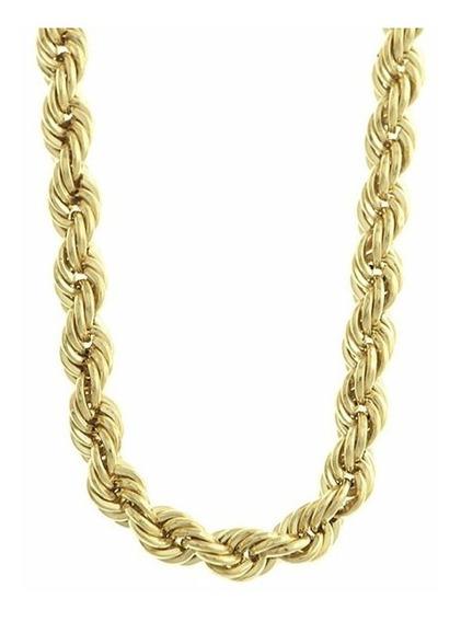 Corrente Cordão Baiano Grosso Em Ouro 18k 60cm